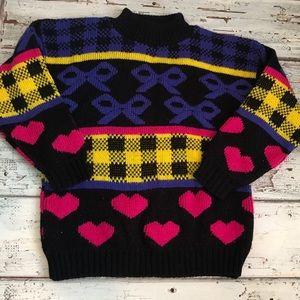 Vintage Girls Heart Sweater